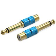 Vention 6.3mm Male Jack to RCA Female Audio Adapter Gold - Redukce