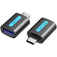 Vention USB-C (M) to USB 3.0 (F) OTG Adapter Black PVC Type - Redukce