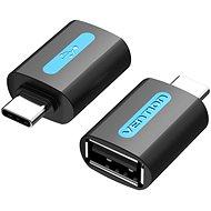 Vention USB-C (M) to USB 2.0 (F) OTG Adapter Black PVC Type - Redukce