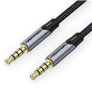 Vention TRRS 3.5MM Male to Male Aux Cable 0.5M Gray - Audio kabel
