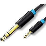 Vention 6.3mm Jack Male to 3.5mm Male Audio Cable 1m Black - Audio kabel
