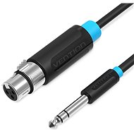 Vention 6.3mm Male to XLR Female Audio Cable 1m Black - Audio kabel