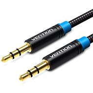 Vention Cotton Braided 3.5mm Jack Male to Male Audio Cable 1m Black Metal Type - Audio kabel
