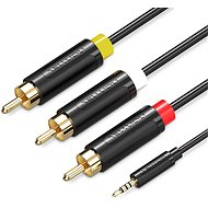 Vention 3.5mm Jack to 3x RCA AV Cable 2m Black - Audio kabel