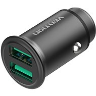 Vention Rapid 2-Port Car Charger (2x QC3.0) 25W Gray Mini Style Aluminium Alloy Type - Nabíječka do auta