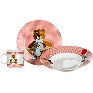 BANQUET Dětská 3 dílná sada Medvídci RED A11867 - Dětská jídelní sada