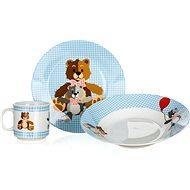 BANQUET Dětská 3 dílná sada Medvídci BLUE A12153 - Dětská jídelní sada