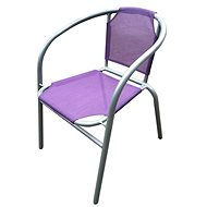 HAPPY GREEN Ocelové křesílko textilen, fialové - Křeslo