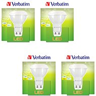 Verbatim 3.6W LED GU10 2700K set 4ks - LED žárovka