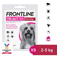 Frontline Tri-act Spot-on for Dogs XS (2 - 5kg) - Antiparasitic Pipette