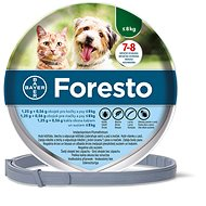 Foresto 1.25g + 0.56g cat and dog collar< 8kg/38cm - Antiparasitic Collar