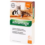 Advantage 1 × 0,4ml  Spot-on Solution for Small Cats and Rabbits - Antiparasitic Pipette