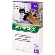 Advantage 1 × 0,8ml Spot-on Solution for Large Cats and Rabbits - Antiparasitic Pipette