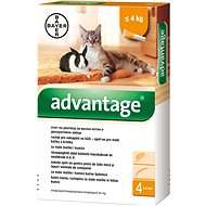 Advantage 4 × 0,4ml Spot-on Solution for Small Cats and Rabbits - Antiparasitic Pipette