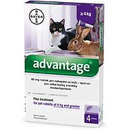 Advantage 4 × 0,8ml 80mg Spot-on Solution for Large Cats and Rabbits - Antiparasitic Pipette