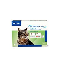 Effipro DUO Cat Spot on for Cats, 4 pipettes - Antiparasitic Pipette