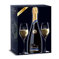 BOHEMIA SEKT Prestige Brut + 2x sklo jakostní šumivé víno bílé 0,75l 12,5% + 2x sklo GB - Šumivé víno