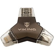 Viking USB Flash Drive 3.0 4-in-1 128GB Black - USB Flash Drive