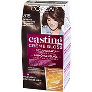 ĽORÉAL CASTING Creme Gloss 518 Oříškové mochaccino - Barva na vlasy