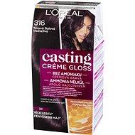 L´ORÉAL CASTING Creme Gloss 316 Tmavá fialová - Barva na vlasy