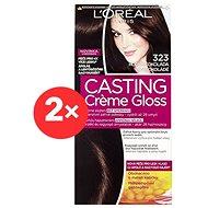 ĽORÉAL CASTING Creme Gloss 323 Hořká čokoláda 2× - Barva na vlasy
