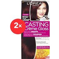 ĽORÉAL CASTING Creme Gloss 360 Tmavá višeň 2× - Barva na vlasy
