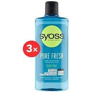 SYOSS Shampoo Pure Fresh 3× 500 ml - Šampon