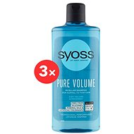 SYOSS Shampoo Pure Volume 3× 500 ml