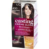 L´ORÉAL CASTING Creme Gloss 400 Tmavý kaštan - Barva na vlasy