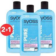 SYOSS Shampoo Pure Smooth 3× 500 ml - Šampon