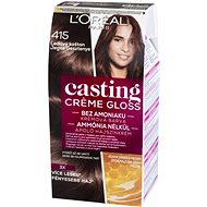 L´ORÉAL CASTING Creme Gloss 415 Ledový kaštan - Barva na vlasy