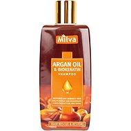 MILVA Arganový olej a Biokeratin 200 ml - Přírodní šampon