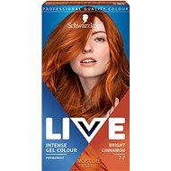 SCHWARZKOPF LIVE Intense Gel Colour 7.7 Oslnivá skořicová 60 ml - Barva na vlasy