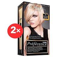 ĽORÉAL PARIS Féria Préférence 92 velmi světlá blond duhová 2×