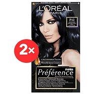 ĽORÉAL PARIS Préférence Blue Black Pearl P12 intenzivní černomodrá  2× - Barva na vlasy