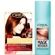 ĽORÉAL PARIS Excellence Creme 6.41+ Magic Retouch 4 - Kosmetická sada