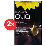 GARNIER Olia 3.16 Tmavě fialová 2× - Barva na vlasy
