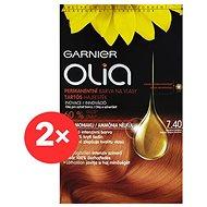GARNIER Olia 7.40 Intenzivní měděná 2× - Barva na vlasy