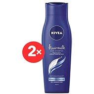 NIVEA Hairmilk Shampoo Normal 2× 400 ml - Šampon