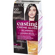 ĽORÉAL CASTING Creme Gloss 100 Temně černá - Barva na vlasy