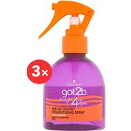 SCHWARZKOPF GOT2B Straight on 4 days 3× 200 ml - Sprej na vlasy