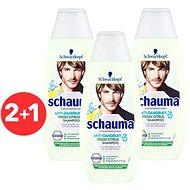 SCHWARZKOPF SCHAUMA Anti-Dandruff Fresh Citrus 3 x 400 ml - Men's Shampoo
