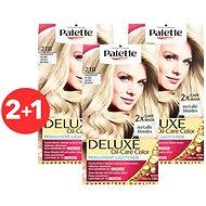 SCHWARZKOPF PALETTE Deluxe 218 Stříbřitě plavý 3× 50 ml - Zesvětlovač vlasů