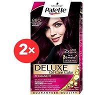 SCHWARZKOPF PALETTE Deluxe 880 Tmavě fialový 2× 50 ml - Barva na vlasy