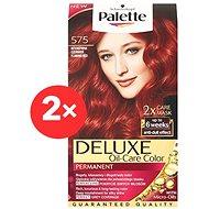 SCHWARZKOPF PALETTE Deluxe 575 Ohnivě červený 2× 50 ml - Barva na vlasy