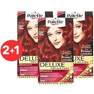 SCHWARZKOPF PALETTE Deluxe 575 Ohnivě červený 3× 50 ml - Barva na vlasy