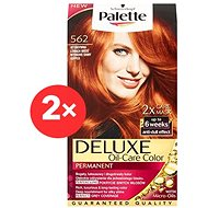 SCHWARZKOPF PALETTE Deluxe 562 Intenzivní zářivě měděný 2× 50 ml - Barva na vlasy