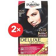 SCHWARZKOPF PALETTE Deluxe 909 Modročerný 2× 50 ml - Barva na vlasy