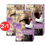 SCHWARZKOPF COLOR EXPERT 10-21 Perleťová blond 3× 50 ml