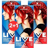 SCHWARZKOPF LIVE Color XXL 92 Pillar Box Red 3× 50 ml - Barva na vlasy